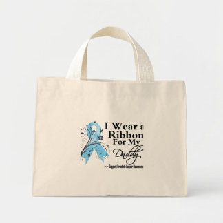 Daddy Prostate Cancer Ribbon Mini Tote Bag