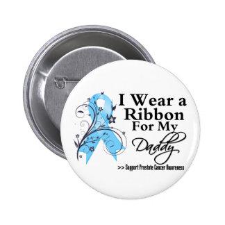 Daddy Prostate Cancer Ribbon Pinback Button