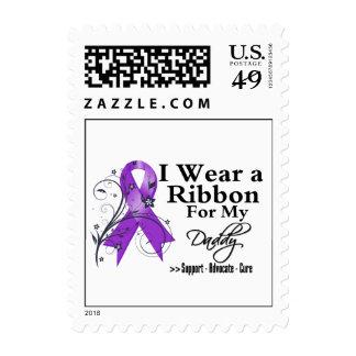 Daddy Purple Ribbon - Pancreatic Cancer Postage Stamp