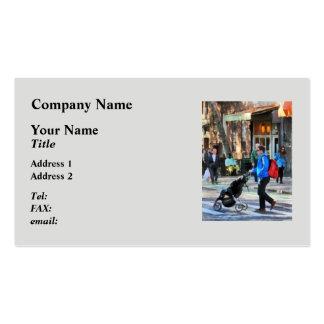 Daddy Pushing Stroller Greenwich Village Business Card