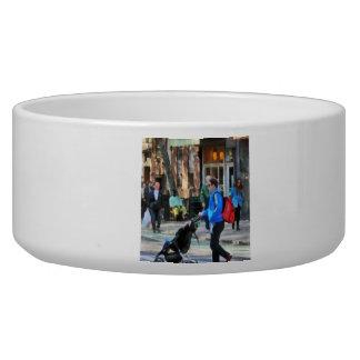 Daddy Pushing Stroller Greenwich Village Dog Bowls