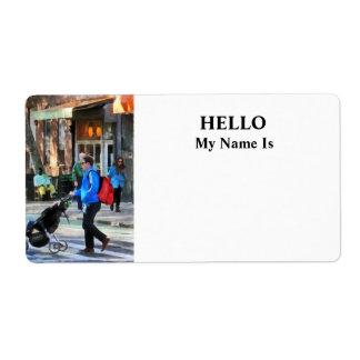 Daddy Pushing Stroller Greenwich Village Label