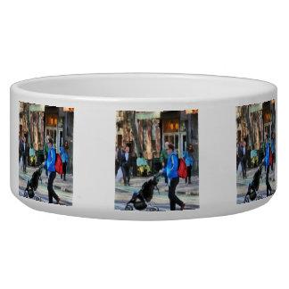 Daddy Pushing Stroller Greenwich Village Dog Water Bowl