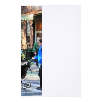 Daddy Pushing Stroller Greenwich Village Stationery