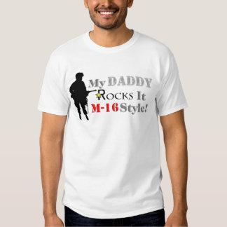 Daddy Rocks It M-16 Style! T-shirt