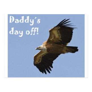 daddy´s day off postcard