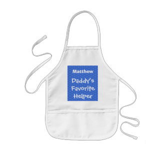 Daddy s Favorite Helper Custom Name Blue W1551 Aprons