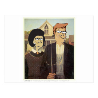 Daddy s Home American Gothic Post Cards