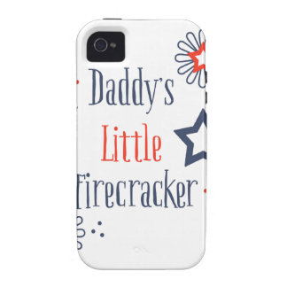 """Daddy""""s Little Firecracker Vibe iPhone 4 Cases"""
