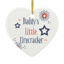 "Daddy""s Little Firecracker Ceramic Ornament"