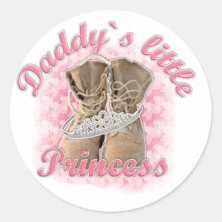 Daddy`s little Princess Classic Round Sticker