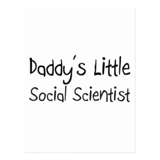 Daddy s Little Social Scientist Postcards