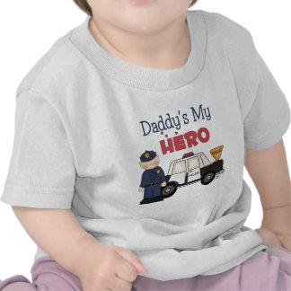 Daddy s My Hero Policeman T Shirt