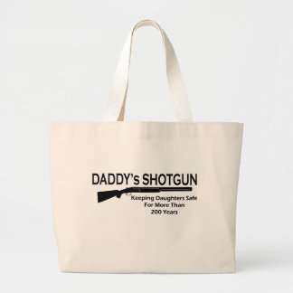 Daddy's Shotgun Jumbo Tote Bag