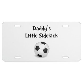 Daddy�s Sidekick Soccer License Plate