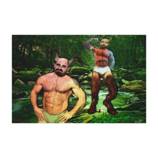 Daddy Satyrs in Briefs on Wrapped Canvas Canvas Prints