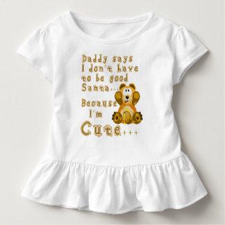 Daddy says I'm cute Santa Toddler T-shirt