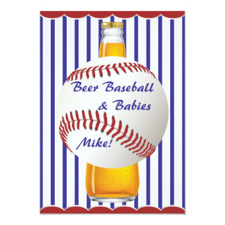 Daddy Shower Beer Baseball and Babies Card