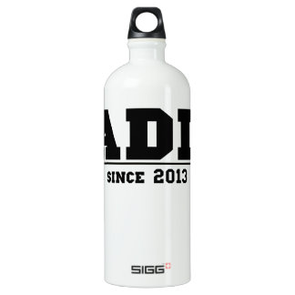 Daddy Since 2013 Aluminum Water Bottle