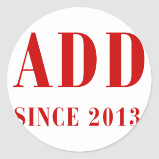daddy-since-2013-bod-burg.png classic round sticker
