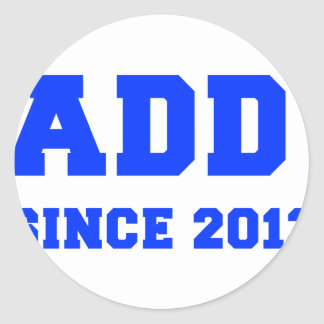 daddy-since-2013-fresh-blue.png classic round sticker