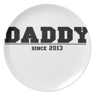 Daddy Since 2013 Party Plates