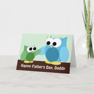 owl fathers day cards zazzle