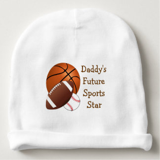 Daddy Sports Cute Boy Basketball Football Baseball Baby Beanie