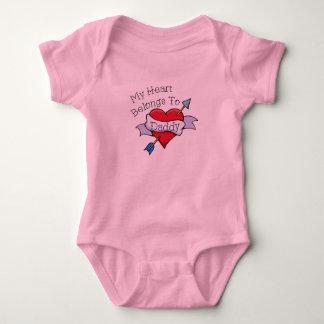 Daddy Tat Heart Baby Bodysuit