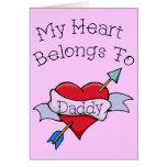 Daddy Tat Heart Greeting Card