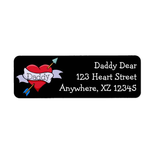 Daddy Tat Heart Label