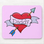 Daddy Tat Heart Mouse Pad