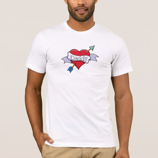 Daddy Tat Heart T-Shirt