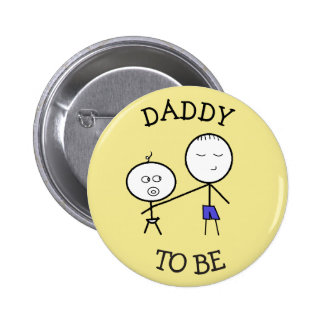 Daddy to be Announcement Button