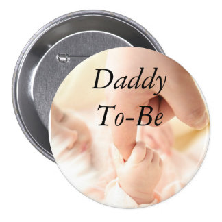 Daddy to be Baby Shower Button