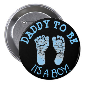 Daddy to Be Baby Shower Button Black and Blue