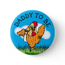 Daddy to Be Baby Shower Farm Animal Themed Button