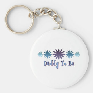 Daddy To Be Basic Round Button Keychain