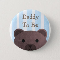 Daddy To Be Button Bear Woodlands Theme
