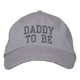 DADDY TO BE EMBROIDERED BASEBALL CAP