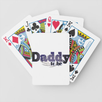 daddy to be gifts bicycle playing cards