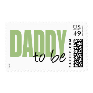 Daddy To Be (Green Block Font) Stamps