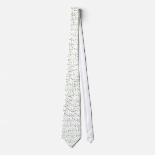 Daddy To Be (Green Script) Tie