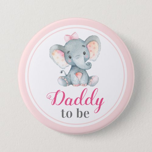 Daddy to be New Father Dad Baby Shower Elephant Button