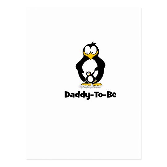 Daddy To Be Penguin Postcard