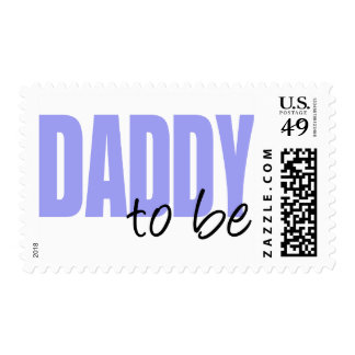 Daddy To Be (Purple Block Font) Postage