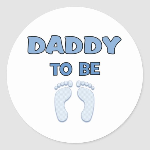 DADDY TO BE ROUND STICKERS