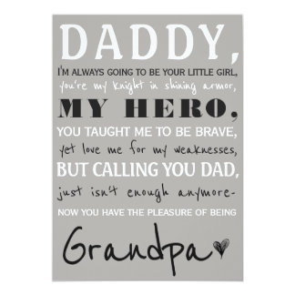 Daddy To Grandpa Cute Pregnancy Announcement