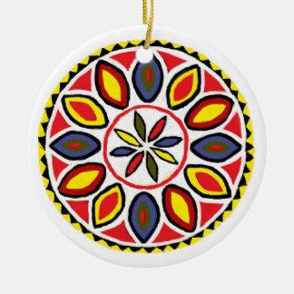 Daddy & Triple Star Hex Ceramic Ornament