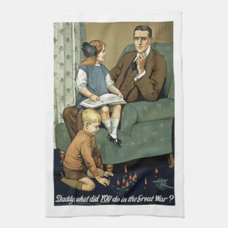 Daddy, what did you do in the Great War? Kitchen Towels